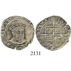 Ireland (Dublin), sixpence, Henry VIII, posthumous issue (1547-50).