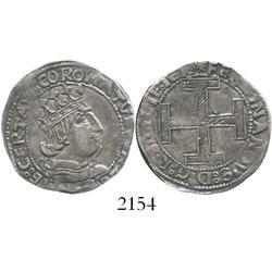 Naples, Italy, coronato, Ferdinand I (1458-94) mintmaster Jacobo Contrullo (Gothic C behind bust).