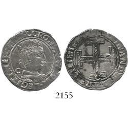 Naples, Italy, coronato, Ferdinand I (1458-94) mintmaster Jacobo Contrullo (Latin C behind bust).