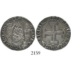 Sicily, Italy, carlino, Ferdinand I (1458-94).