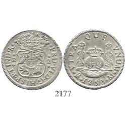 Mexico City, Mexico, pillar 2 reales, Ferdinand VI, 1753M.