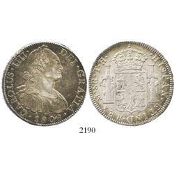 Mexico City, Mexico, bust 8 reales, Charles IV, 1808TH.
