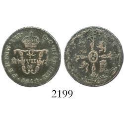 Mexico City, Mexico, copper 1 cuarto (tlaco), Ferdinand VII, 1814.