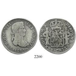 Guadalajara, Mexico, bust 4 reales, Ferdinand VII, 1815MR, rare.