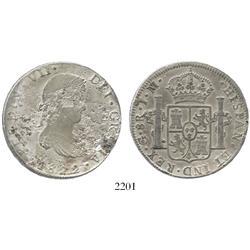 Guanajuato, Mexico, bust 8 reales, Ferdinand VII, 1822JM.