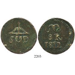 Oaxaca (Morelos/SUD), Mexico, copper 8 reales, 1812.