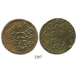 Oaxaca (Morelos/SUD), Mexico, copper 8 reales, 1814.