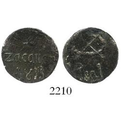 Zacatlan, Puebla, Mexico, copper 1 real, 1813.