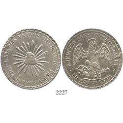 "Durango (Cuencame), Mexico, 1 peso, ""Muera Huerta,"" 1914."