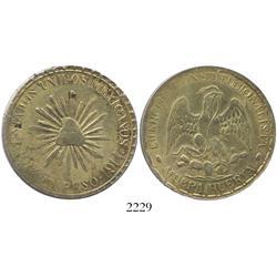 Durango (Cuencame), Mexico, 1 peso,  Muera Huerta,  1914.