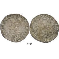 Gelderland, Spanish Netherlands, philipdaalder, Philip II, 1558.