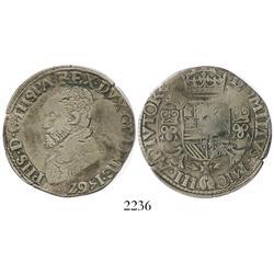 Gelderland, Spanish Netherlands, 1/2 philipdaalder, Philip II, 1562.