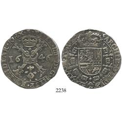 Tournai, Spanish Netherlands, patagon, Philip IV, 1646.