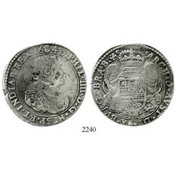 Brabant, Spanish Netherlands (Antwerp mint), portrait ducatoon, 1640.