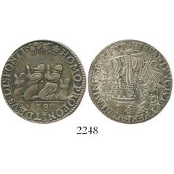 Dordrecht, United Netherlands, silver jeton, 1588, defeat of the Spanish Armada.