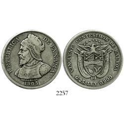Panama, 50 centesimos, 1905.