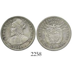 Panama, 10 centesimos, 1904.