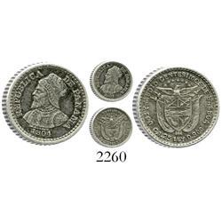 Panama, 2-1/2 centesimos, 1904.