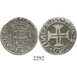 Lisbon, Portugal, tostao (100 reis), Manuel I (1495-1521).