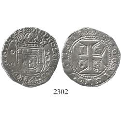Lisbon, Portugal, half cruzado (200 reis), Alfonso VI, 1663.