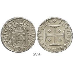 Lisbon, Portugal, 400 reis, Peter II, 1687.
