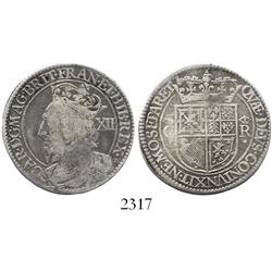 Scotland, 12 shillings, Charles I (1625-49), Briot's milled coinage.