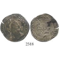 Scotland, half merk, Charles I, hammered issue (ca. 1636).
