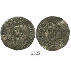 Jaen (Castile & Leon), Spain, billon 1/2 cuartillo, Enrique IV (1454-74).