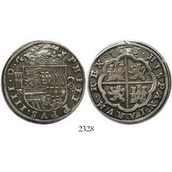 Segovia, Spain, milled 8 reales, Philip IV, 1633R.