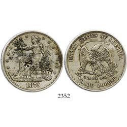 USA (Carson City), $1 (Gobrecht), 1875-CC, with chopmarks (rare).