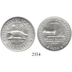 USA (Philadelphia), Wisconsin half dollar, 1936, encapsulated PCGS MS-64.