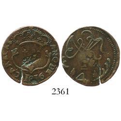 Caracas, Venezuela (Royalist), copper 1/4 real, Ferdinand VII, 1816, with Madura Island (Sumenep, In