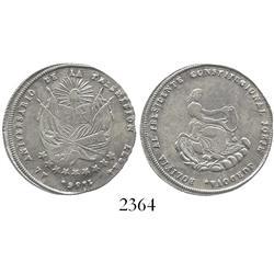 "Bolivia, silver ""2 soles"" proclamation medal, 1856, President Cordova."