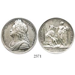 Great Britain, silver medal, George II, 1727, Coronation  (Croker).