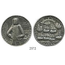 Great Britain, silver Admiral Vernon medal, Chagre/Portobello, 1739, rare.