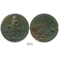 Great Britain, copper Admiral Vernon medal, Cartagena, 1741.