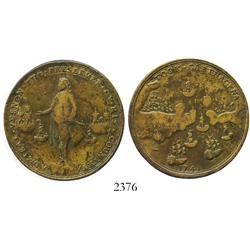 Great Britain, brass Admiral Vernon medal, Cartagena, 1741.