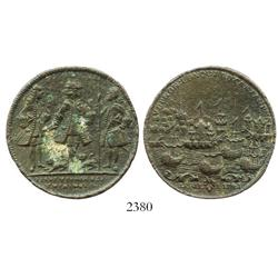 Great Britain, copper Admiral Vernon medal, Vernon/Ogle/Wentworth, Cartagena, 1741.