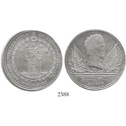 "Cuzco, Peru, silver ""8 reales"" medal, 1838, General Santa Cruz."