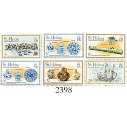 St. Helena, 1978 mint set of 6 stamps (3p, 5p, 8p, 9p, 15p and 20p, all depicting artifacts from the
