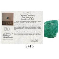 High-quality natural emerald, 2.2 carats.