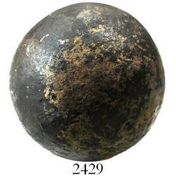 Large bronze cannonball (rare).