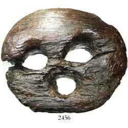 Huge wooden deadeye.
