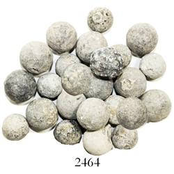 Lot of 24 lead musketballs.
