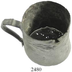 Large pewter tankard, pictured in Diving to a Flash of Gold.