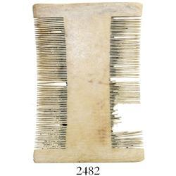 Ivory lice comb.