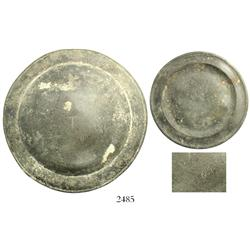 Small pewter plate with touchmarks, pictured in Diving to a Flash of Gold.