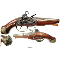 Spanish miquelet flintlock pistol, early 1800s, excellent working order.