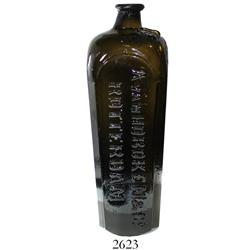 "Large Dutch ""case gin"" bottle marked A VAN HOBOKEN & Co. / ROTTERDAM and with maker's seal, 1800s."