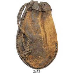 Small leather money pouch (1600s?) found in Seville harbor.